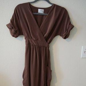Midi Wrap-Around Dress